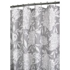I pinned this Peony Shower Curtain in Antiqued Silver & White from the Spa Serenity event at Joss and Main!