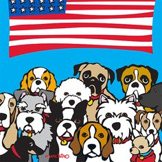 Happy 4th of July Print by Marc Tetro