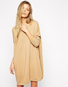 ASOS Sweater Dress In Ripple Stitch