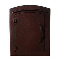 Qual Arc MAN-1400 Manchester Non-Locking Plain Column Mount Mailbox