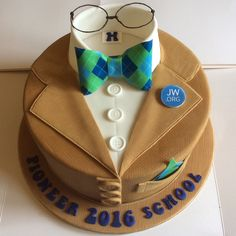 JW.org  jacket and bow tie cake