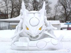 rayquaza from pokemon made out of ice. or possibly groudon. i dunno. it's just cool
