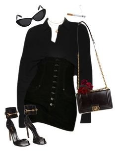 featuring Chanel, Gucci and Elizabeth and James Komplette Outfits, Kpop Fashion Outfits, Cute Casual Outfits, Polyvore Outfits, Stylish Outfits, Spring Outfits, Polyvore Fashion, Look Fashion, Korean Fashion