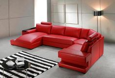 Superbe Tosh Furniture Modern Red Leather Sectional Sofa   RSF | Pearsonu0027s Luxury  Boutique | Pinterest | Leather Sectional, Leather Sectional Sofas And  Leather ...