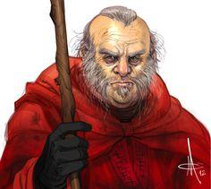 "Thoros of Myr by mattolsonart.deviantart.com on @deviantART. ""The red wizard. I've heard tell he has strange powers."""