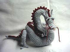 Asian Dragon amigurumi by Christina Powers, 5$ at Etsy