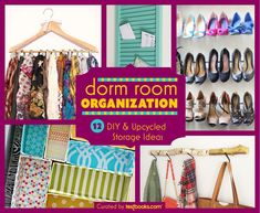 Dorm Room Organization: 12 DIY Projects & Upcycled Storage Ideas on the Textbooks.com blog // Get inspired – and get hands on – with our roundup of creative DIY and upcycled storage and dorm room organization projects. #diy #dormdecor #organization