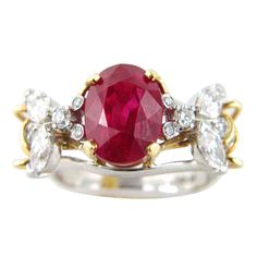 "Burmese Ruby and Diamond ""Bee"" Ring, Jean Schlumberger for Tiffany & Co."