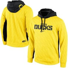 No. 4 - Nike Oregon Ducks KO Performance Tonal Hoodie - Yellow #GoDucks | applyful.com