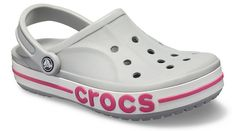 The Bayaband Clog - a go-anywhere style staple featuring a sleek, fashion-athletic spirit that lets you slide in and stay cool. Shop athletic clogs from Crocs! Pink Crocs, Crocs Crocband, Crocs Fashion, Crocs Classic, Craft Activities For Kids, Pink Candy, Flats, Sandals, Athletic Fashion