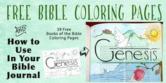Free Bible Coloring Pages | Heart of Wisdom Homeschool Blog