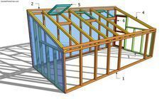 DIY Greenhouse Building Plans | Lean-to Greenhouse Plans | Free Garden Plans - How to build garden ...