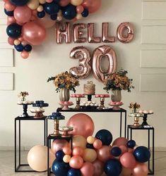 30th Birthday Themes, Happy Birthday Decor, 30th Birthday Ideas For Women, Birthday Balloon Decorations, Birthday Brunch, 30th Birthday Parties, Birthday Balloons, Birthday Surprise Boyfriend, 30th Party