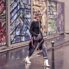 White boots ❤ | Amando usar botas brancas! @luizabarcelos | {Passa pro lado pra ver o look todo hein?!} Quem curte a tendência?! #thassiastyle #thassiafrenchdays #pfw  @rhaiffe