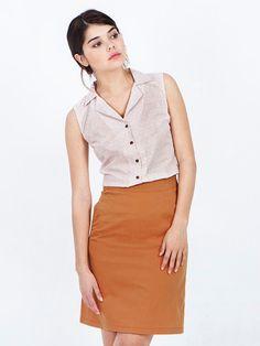 SALE Mustard skirt - yellow skirt - midi skirt - pencil skirt - A line skirt - summer skirt - knee length skirt - high waisted skirt