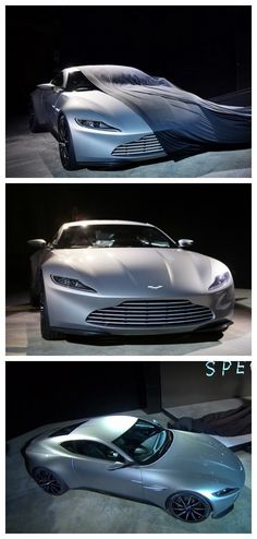 WOW! Aston Martin DB10 revealed as James Bond's new car in Spectre. Check out the badguys cars here...