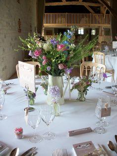 country jug flowers at bury court barn - lavender hill company farnham