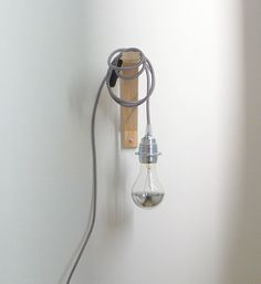 Textile cable lamp with switch and plug  grey by lacasadecoto, €35.00