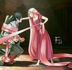Sakura and Sasuke #Naruto