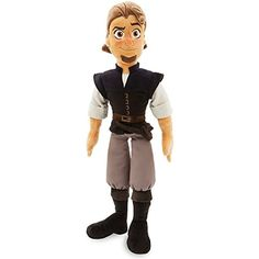 Whether you know him as roguish ''Flynn Rider'' or endearing ''Eugene Fittzherbert,'' he's Rapunzel's true love, now and forever. And once you hug our plush doll, he'll steal <i>your</i> heart as well! Plush Dolls, Doll Toys, Pet Toys, All American Doll, Tangle Toy, Disney Stuffed Animals, Walking Horse, Disney Princess Dolls, Disney Plush