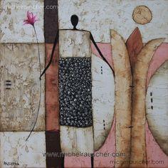 Michel RAUSCHER | Peintures - Huile sur toile - Sans titre-40 x 40 cm