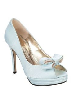 Tie The Knot in Baby Blue Peep Toe Pump With Bow