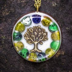Orgonite Tree Necklace  Free Shipping In US by FountainOfSpirit