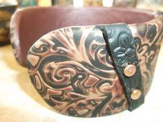 Metallic mokume cuff by Lori Von der Puetten
