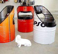 50 gallon drum chair