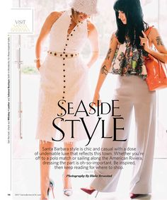 Julianne Featured in Visit SB Magazine | JULIANNE