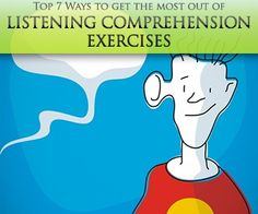 Top 7 Ways to Get the Most out of Listening Comprehension Exercises by kerry Comprehension Exercises, Comprehension Activities, Reading Comprehension, Listening Games, Listening Skills, Active Listening, Easy Listening, Teaching French, Teaching English