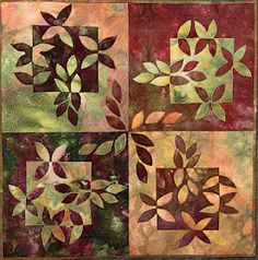 I like it, I want it, I can't stop looking at it! { batik, nature, pos/neg } Notan quilt (so that's what created the Notan attention!)