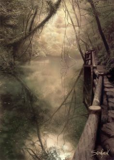 Forest and Water by ~Sandfreak on deviantART  this is a cool picture don't you think?