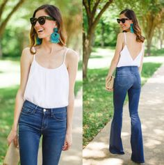 """Early 2000s Trends That Have Returned : Love 'em or hate 'em it's still an obsession…kidding, but if you can't beat 'em, join 'em. And by """"join 'em"""" what I really mean is """"invest in a comfortable, well-made pair of flares."""" There's a reason they've been on our butts and in our hearts since the '70s."""