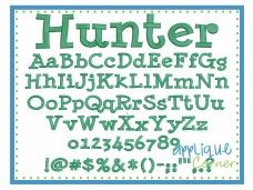 Hunter Embroidery Font