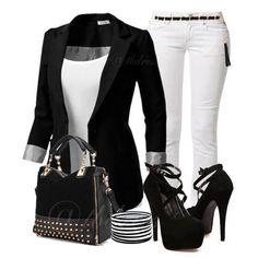 Conjunto negro y blanco!!
