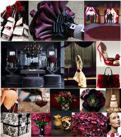 Inspiration for purple and red wedding