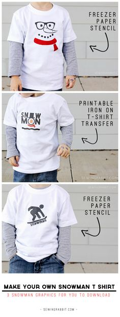 Make your own Snowman T Shirts - with free downloads