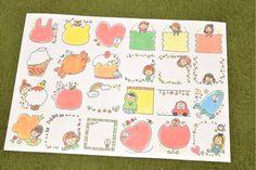Bullet Journal Frames, Bullet Journal Writing, Cartoon Drawings, Cute Drawings, Page Borders Design, Japanese Funny, Japanese Drawings, Doodle Borders, Notebook Art