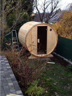 1130 Wien Diy Sauna, Indoor Outdoor, Outdoor Decor, Barrel, Camping, Home Decor, Wood Workshop, Campsite, Decoration Home