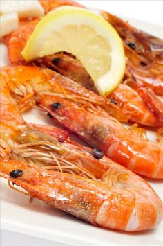 Typical dishes of Spain: Gambas !