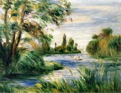The Banks of the River Pierre Auguste Renoir - circa 1890