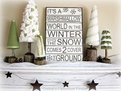 Under The Table and Dreaming: Marshmallow Wonderland Vignette featuring Janet from Today's Fabulous Finds {Handmade Holidays Project No.4}