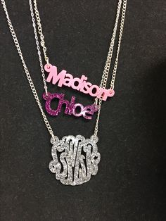 Name necklaces with pizzazz