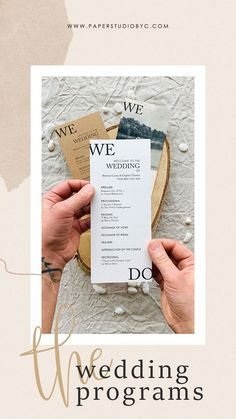 The more involved guests feel in your wedding ceremony, the more likely they are to enjoy themselves. Share the details of your wedding ceremony with your wedding program printed on high-quality paper for a perfect finishing. #weddingprograms #weddingprogram #weddingprogramcard #orderofevent #weddingtimeline #weddingpartycards #preludecards #wedocards #wedo #simpleweddingprograms #rusticweddingprograms #weddingprogramtimeline Rustic Wedding Stationery, Rustic Wedding Programs, Laser Cut Wedding Invitations, Farm Wedding, Wedding Ceremony, Wedding Timeline, Stationery Items, Engagement Couple, Invitation Design