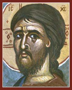 Christ – Detail (Kontoglou) Orthodox Icon