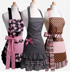 Flirty aprons... Expensive, but I think I can make some just like them.