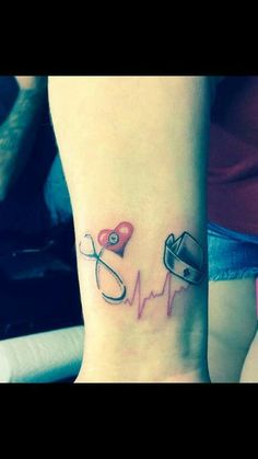Nurse tattoo - not this exactly, but I'm definitely going to get a nursing tattoo when I finally graduate! Girly Tattoos, Love Tattoos, Beautiful Tattoos, New Tattoos, Tattoos For Women, Tatoos, Awesome Tattoos, Rn Tattoo, Get A Tattoo