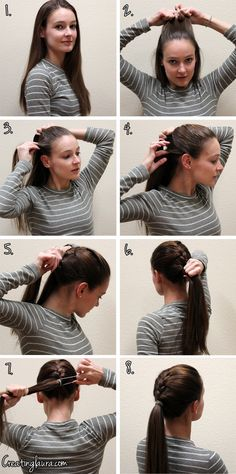 Creating Laura: A French Braid into a Ponytail