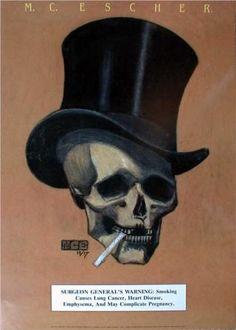Smoking Warning by M.C. Escher - 1915